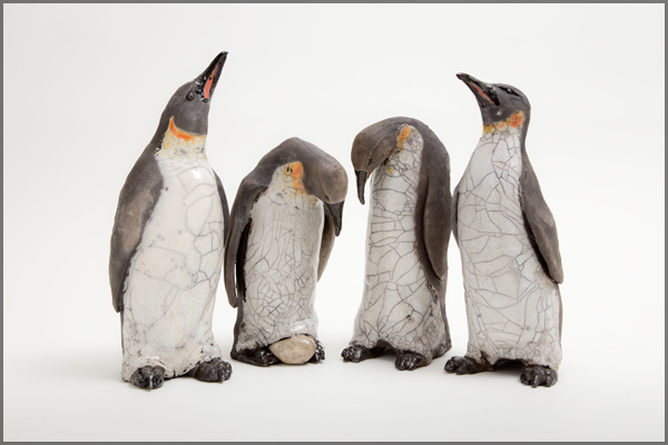New additions - Raku penguins