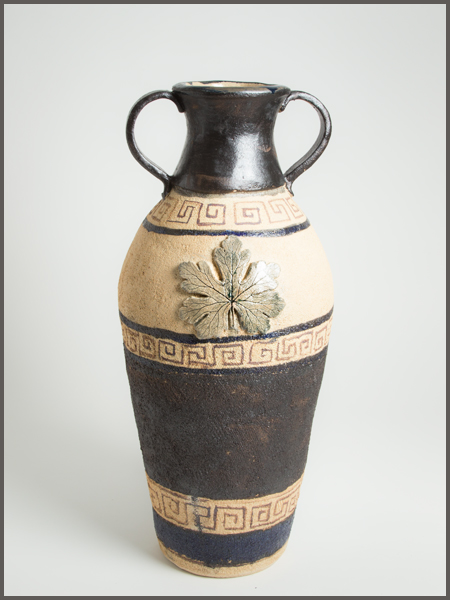 Ceramic jar, inspired by classic Greek and Egyptian pottery