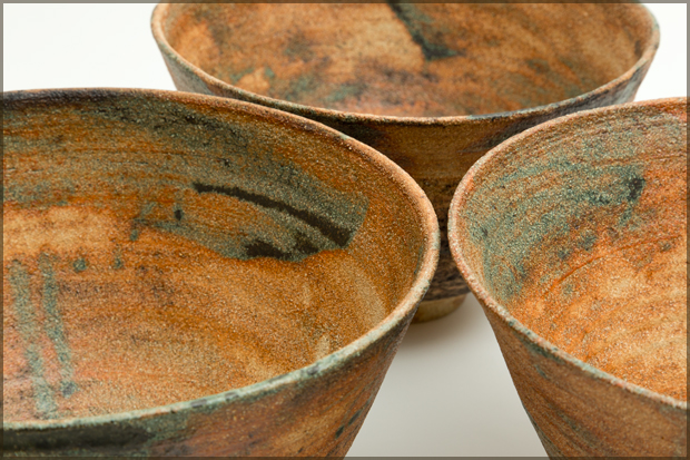 """Ciotola di canto"". Bowls are various sizes, up to approx 30 cm diameter, 15cm height."