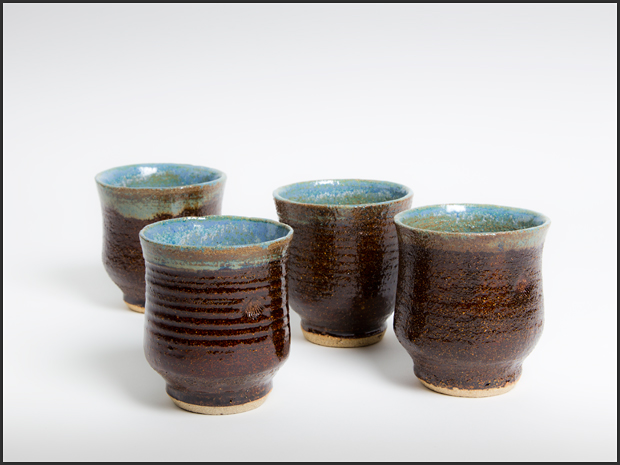 Tea bowls, approx. 6 cm high