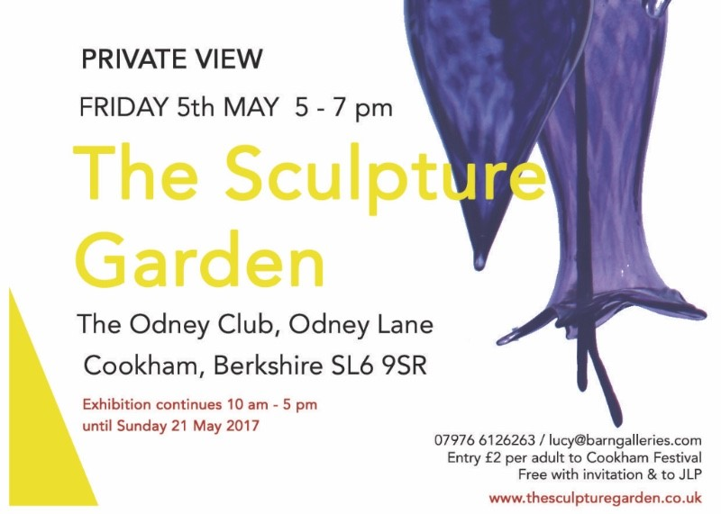 invite to Odney Sculpture Garden